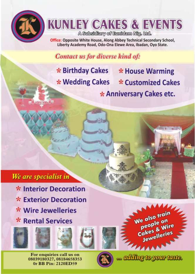 KUNLEY CAKES & EVENTS